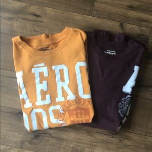Aeropostale Men's Bundle of 2 t-shirts, Medium